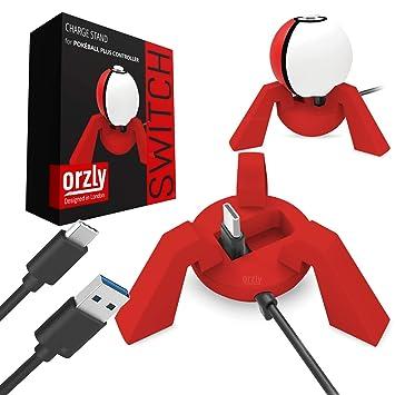 ORZLY® Cargador Pokeball Plus, Rojo, Base de Carga Nintendo ...