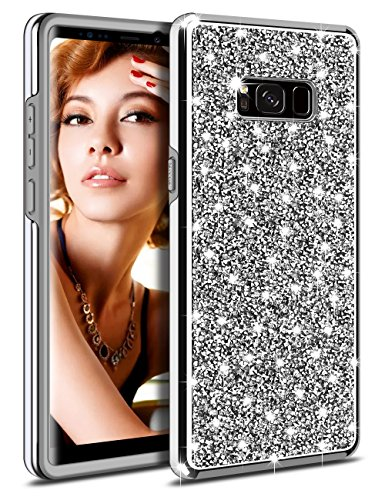 Galaxy S8 Plus Case, Vofolen Galaxy S8 Plus Case Glitter Bling Crystal Shiny Heavy Duty Protection Impact Resistant Dual Layer Protective Shell Rubber Bumper Hard Cover for Galaxy S8 Plus (Metallic Crystal Case)