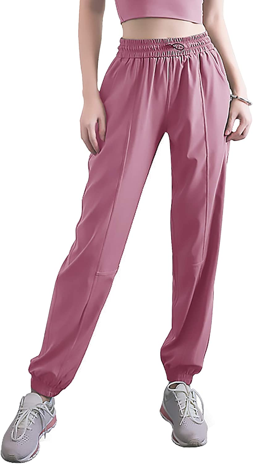 Womens Joggers with Pockets Drawstring Sweatpants High Waist Workout Sports Athletic Sweat Pants