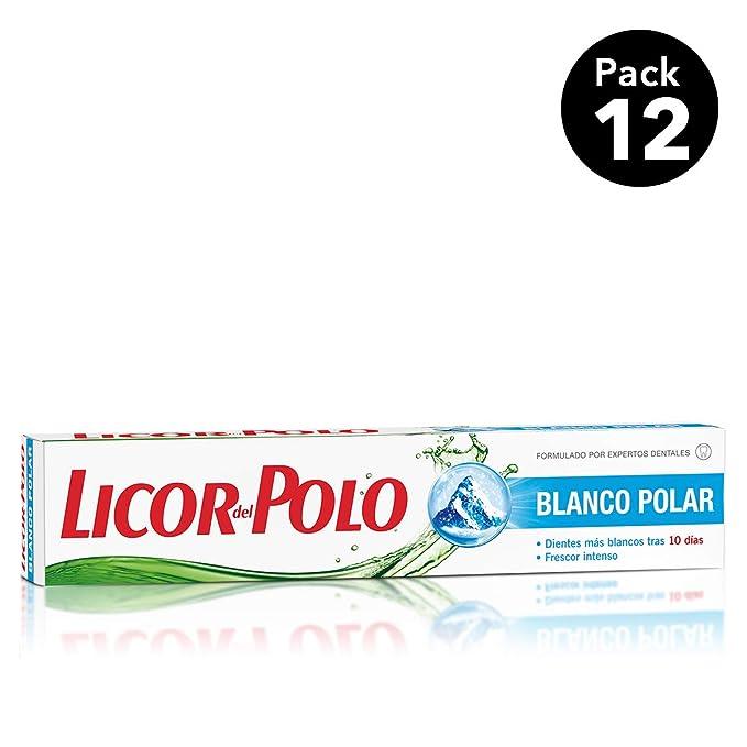 Licor del Polo Dentífrico Blanco Polar - 12 tubos de 75 ml (Total ...