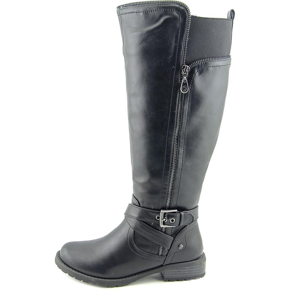 d52485b19c6127 Guess G by pour Femme Halsey Large Mollet Bottes d'équitation Remontant -  Noir - Noir,: Amazon.fr: Chaussures et Sacs