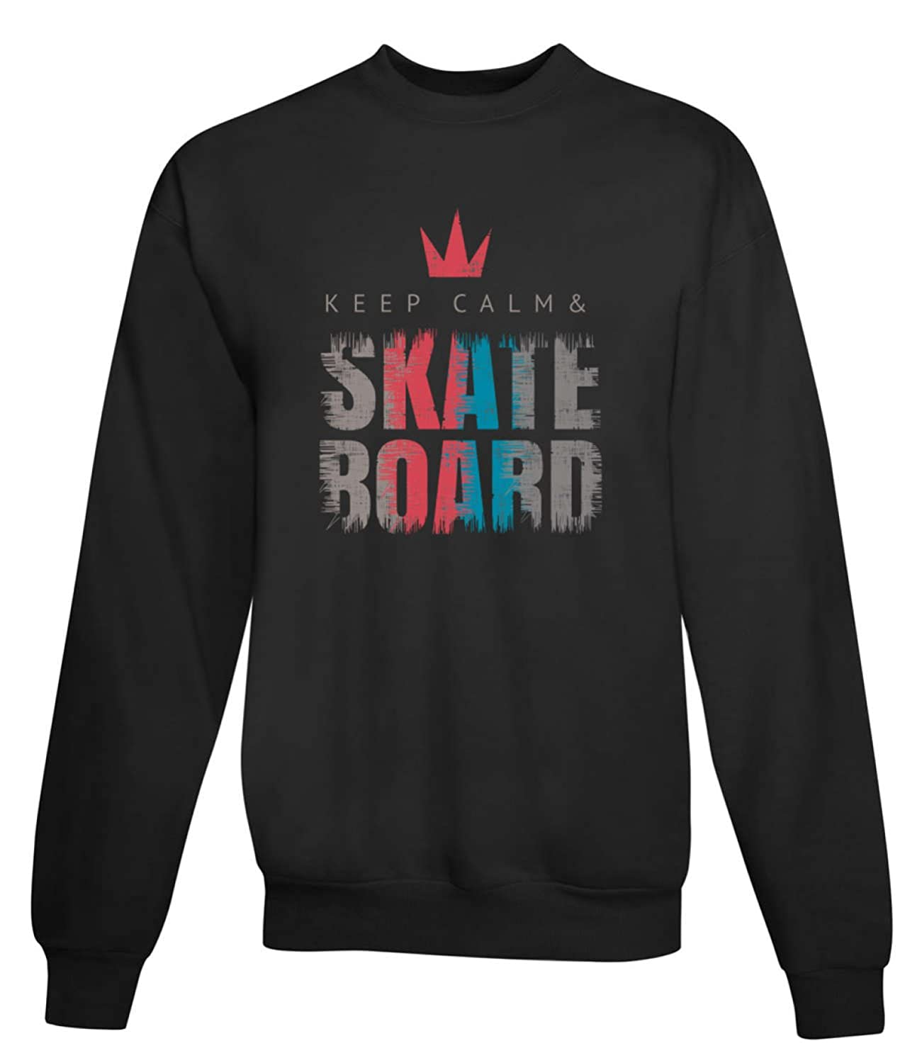 Keep Calm And Do Skate Boarding Women's Unisex Sweatshirt