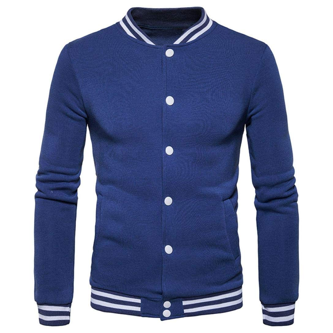 Sharemen Men Fall Winter Casual Sports Zipper Sweatshirt