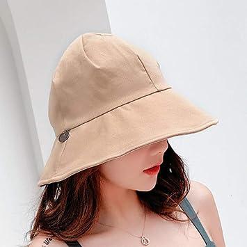 PVOWEJF Sombrero de Playa Sombrero para el Sol Mujeres Harajuku ...