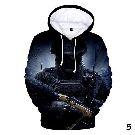 Siege theme 3D printed Hoodie sports and leisure Sweatshirt XYQB Mens zipper jacket Tom Clancys Rainbow Six