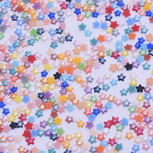 1000pcs 3.5mm Star Cabochons Flatback Ceramic Beads,Nail Decoration,Hat accessories