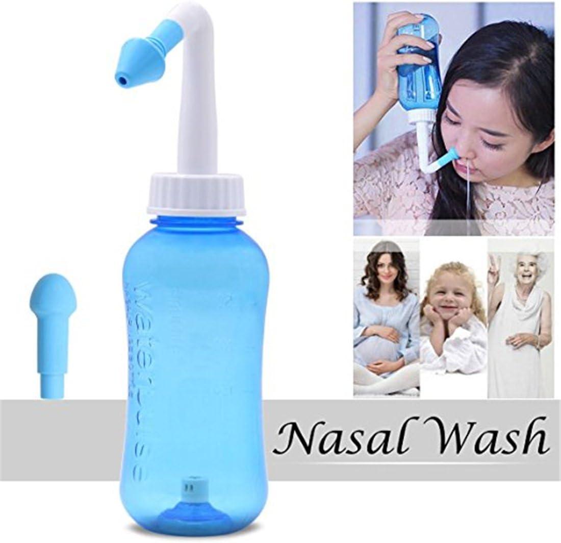 SUNMUCH Global 500/ML Lavage Nasal Aspirateur Nasal Irrigation Sinus Rinse Nez Care pour Adulte et Enfant Rhinites allergiques Traitement