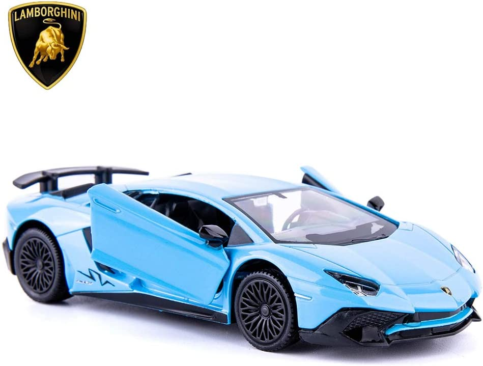TGRCM-CZ 1/36 Scale Aventador LP700-4 Casting Car Model, Zinc Alloy Toy Car for Kids, Pull Back Vehicles Toy Car for Toddlers Kids Boys Girls Gift