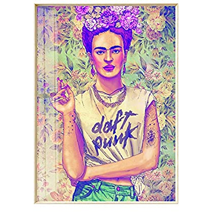 NEW FRIDA KAHLO AND HER QUOTE PICTURE PRINT ON WOOD FRAMED CANVAS WALL ART DECOR Art