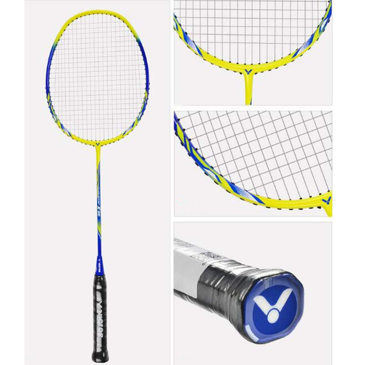 Tongboshi Badminton Racket, Double Shot, Offensive Full Carbon Badminton Racket, Aluminum Alloy Badminton Racket Badminton Racket, (Edition : C) by Tongboshi (Image #3)