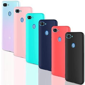 Leathlux [6 Packs Funda para Xiaomi Mi 8 Lite, Carcasas Colores Ultra Fina Silicona TPU Gel Protector Flexible Cover para Xiaomi Mi 8 Lite - 6.26