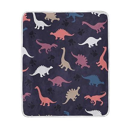 Amazoncom Xmcl Vintage Dinosaur Warm Throw Blanket Travel Nap Sofa