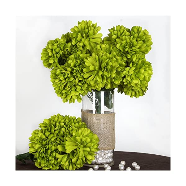 BalsaCircle 56 Sage Green Silk Chrysanthemums – 4 Bushes – Artificial Flowers Wedding Party Centerpieces Arrangements Bouquets Supplies