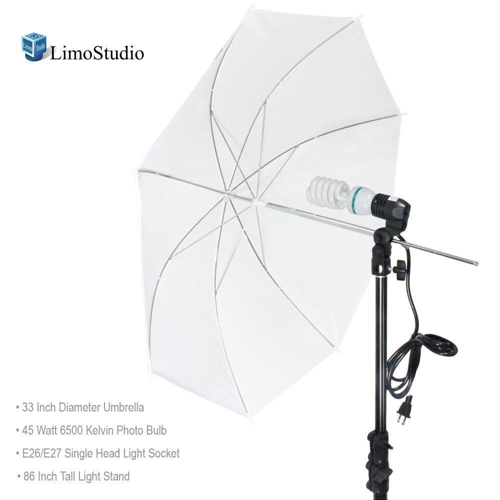 (Certified Refurbished) LimoStudio Photography White Photo Umbrella Light Lighting Kit, AGG1754