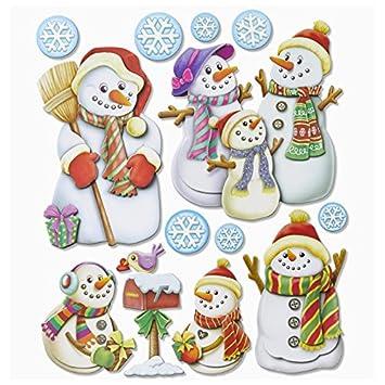 Männer Weihnachtsdeko.Stickerkoenig Wandtattoo 3d Sticker Für Kinderzimmer Xxl Set Schneemann Schnee Männer Weihnachten Weihnachtsmann Nikolaus Weihnachtsdeko Tolle