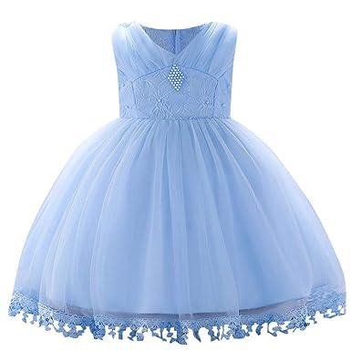 Mitlfuny Verano Niñas Bebé Vestidos sin Manga Princesa Faldas ...