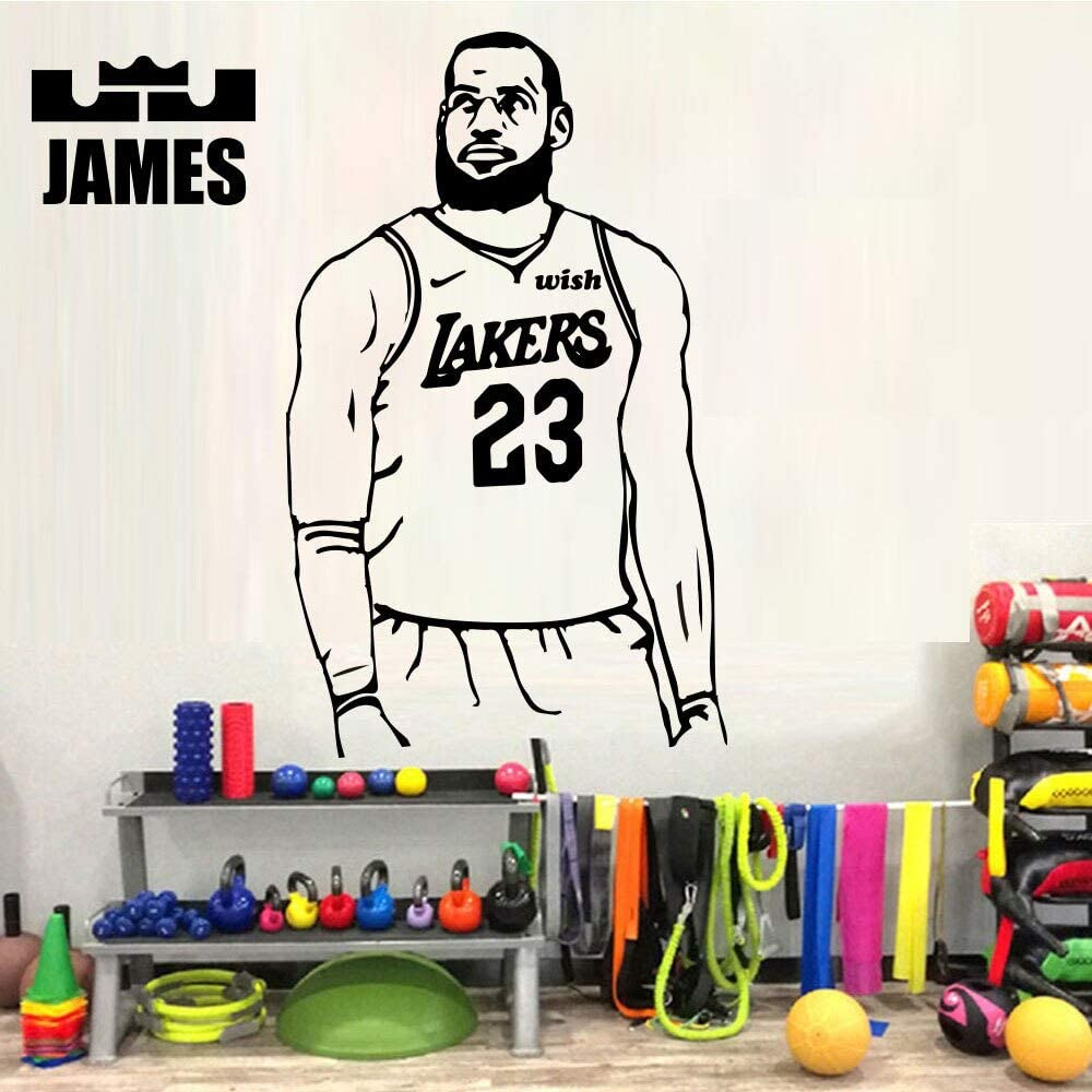 Ajcwhml Lakers King Baloncesto Vinilo Pegatinas de Pared Mural ...