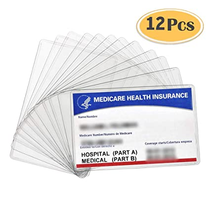 Amazon 12 Pack New Medicare Card Holder Protector Sleeves