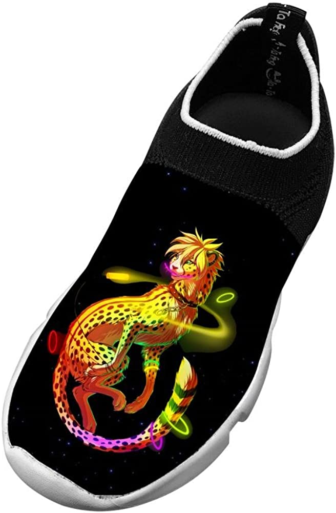 MREIO Lion Childrens 3D Print Fly Knit Shoes Outdoor Loafers Sneakers Running Shoes For Boys