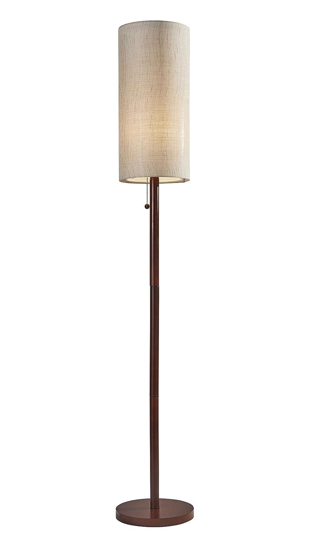 "Adesso 3338-15 Hamptons Floor Lamp Smart Outlet Compatible, 65"", Walnut"