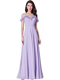 e6e11749f2fb Ever Pretty Womens Elegant Off-The-Shoulder A Line Chiffon Long Bridesmaid  Dresses 07414