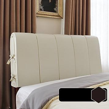 WAYERTY Leder Rückenlehne Für Bett, Bücherkissen Volltonfarbe Querformat  Kopfpolster Bett Soft Pack Bettdecke