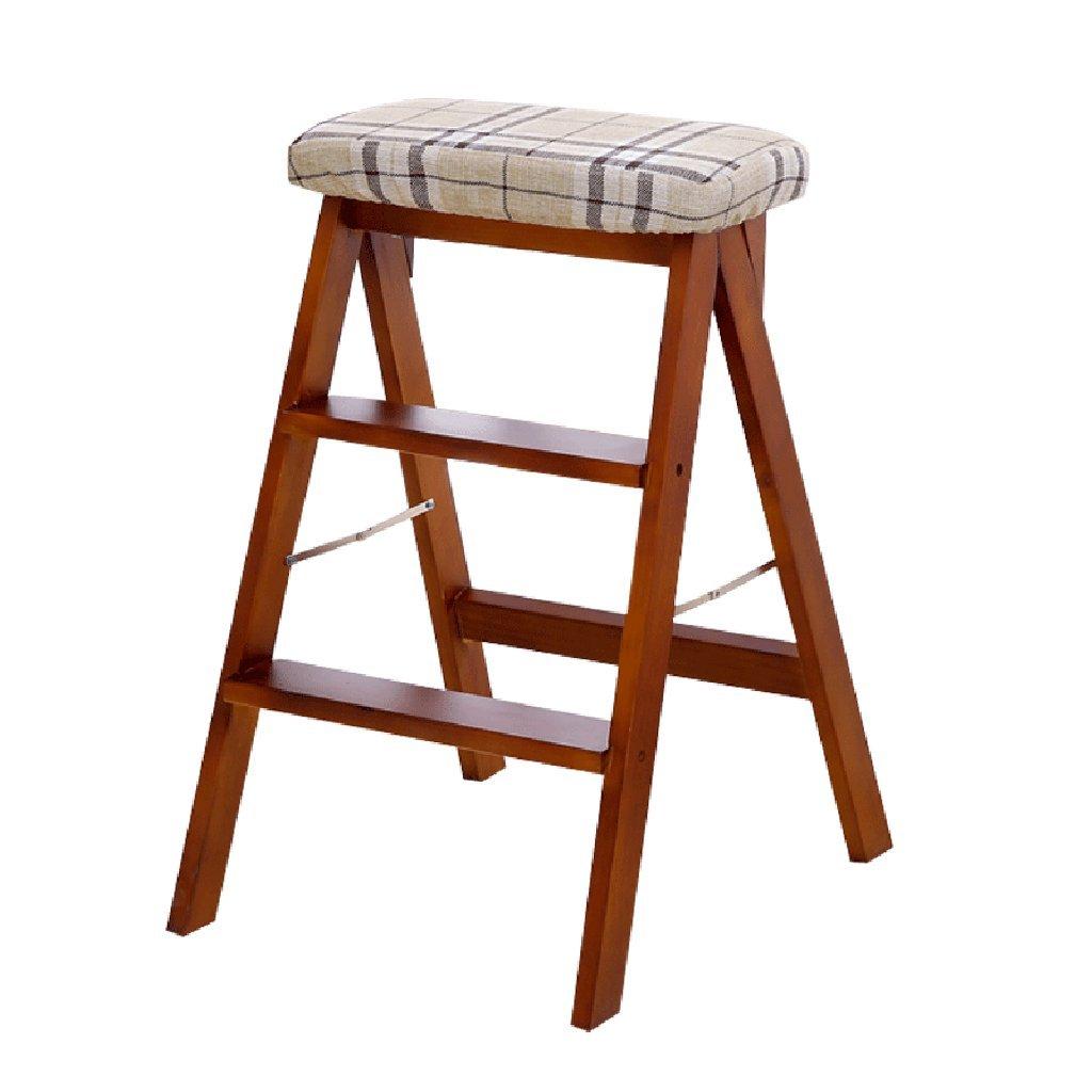 ウッドステップスツールキッズアダルト3ステップ、キッチンベッドルームバス多目的ラダーシェルフ、150kg (色 : Brown, サイズ さいず : Style-2) B07FBY2PVT Style-2|Brown Brown Style-2