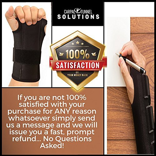 Carpal Tunnel Solutions Daytime Wrist Brace - RELIEF For Carpal Tunnel, RSI, Cubital Tunnel, Tendonitis, Arthritis, Wrist Sprains. Support Recovery & Feel Better NOW. (1 Brace Fits Both Hands) by Carpal Tunnel Wrist Brace (Image #4)