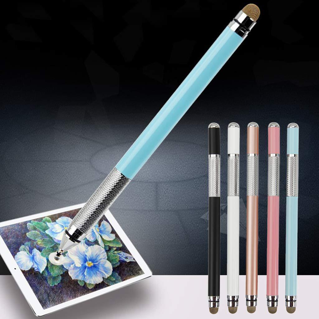 siwetg 2 en 1 Multifunci/ón de Punto de Pantalla t/áctil de Metal Capacitivo l/ápiz para iPhone iPad tel/éfono Inteligente tel/éfono m/óvil Tablet PC