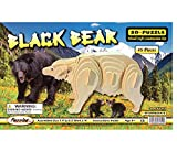 : Puzzled Kids Playschool Preschool Black Bear 3D Natural Wood Play Puzzle