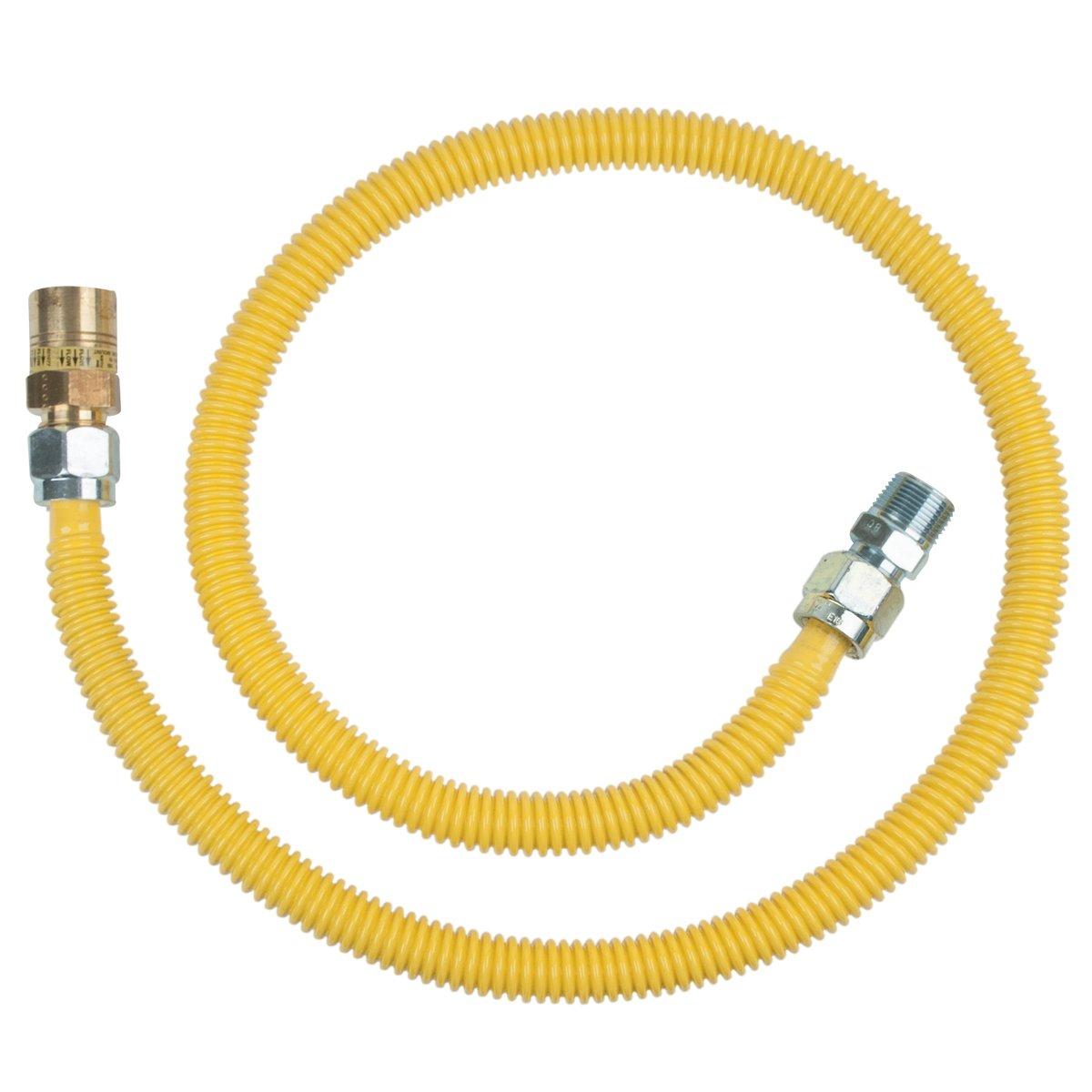 BrassCraft CSSC91R-48 P Safety PLUS Gas 5/8'' OD Connector with 5/8'' Female Flare EFV x 3/4'' MIP x 36''