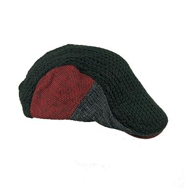 d91d0e1797a7f JAMONT Winter Warm Flat Cap Duckbill Hat Newsboy Ivy Irish Cabbie Scally Cap  ( 8228 Black)  Amazon.co.uk  Clothing