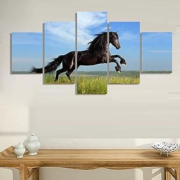 Wohnzimmer Leinwand | Amazon De Pferd Auf Leinwand Bild Home Dekoration Wohnzimmer