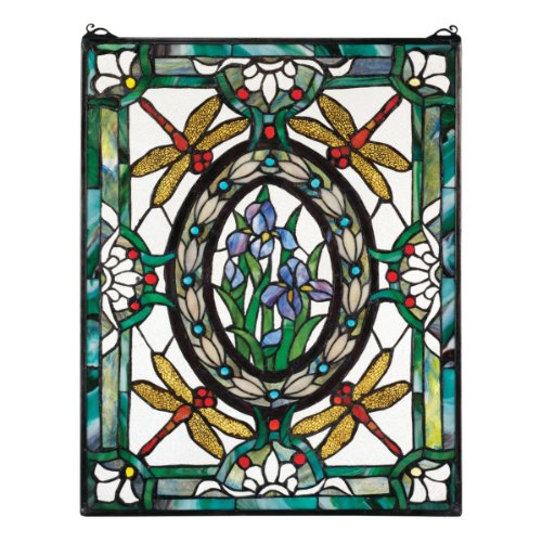 Dragonfly Floral Stained Glass