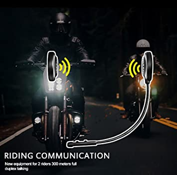 OBEST 300 M con micrófono para casco de moto Bluetooth intercomunicador de 2 los Jinetes BT inalámbrico intercomunicador Interphone apoyo llamadas manos ...