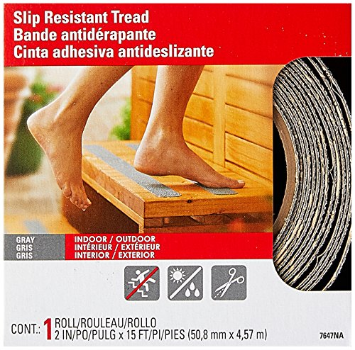 Slip Safety Tape - 3M Safety-Walk Gray Indoor/Outdoor Tread, 2-Inch by 180-Inch Roll, 7647NA