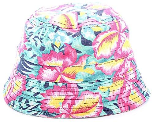 ede16365548 Galleon - Enimay Men s Women s Unisex Print Outdoor Beach Pool Vacation Sun  Bucket Hat Green