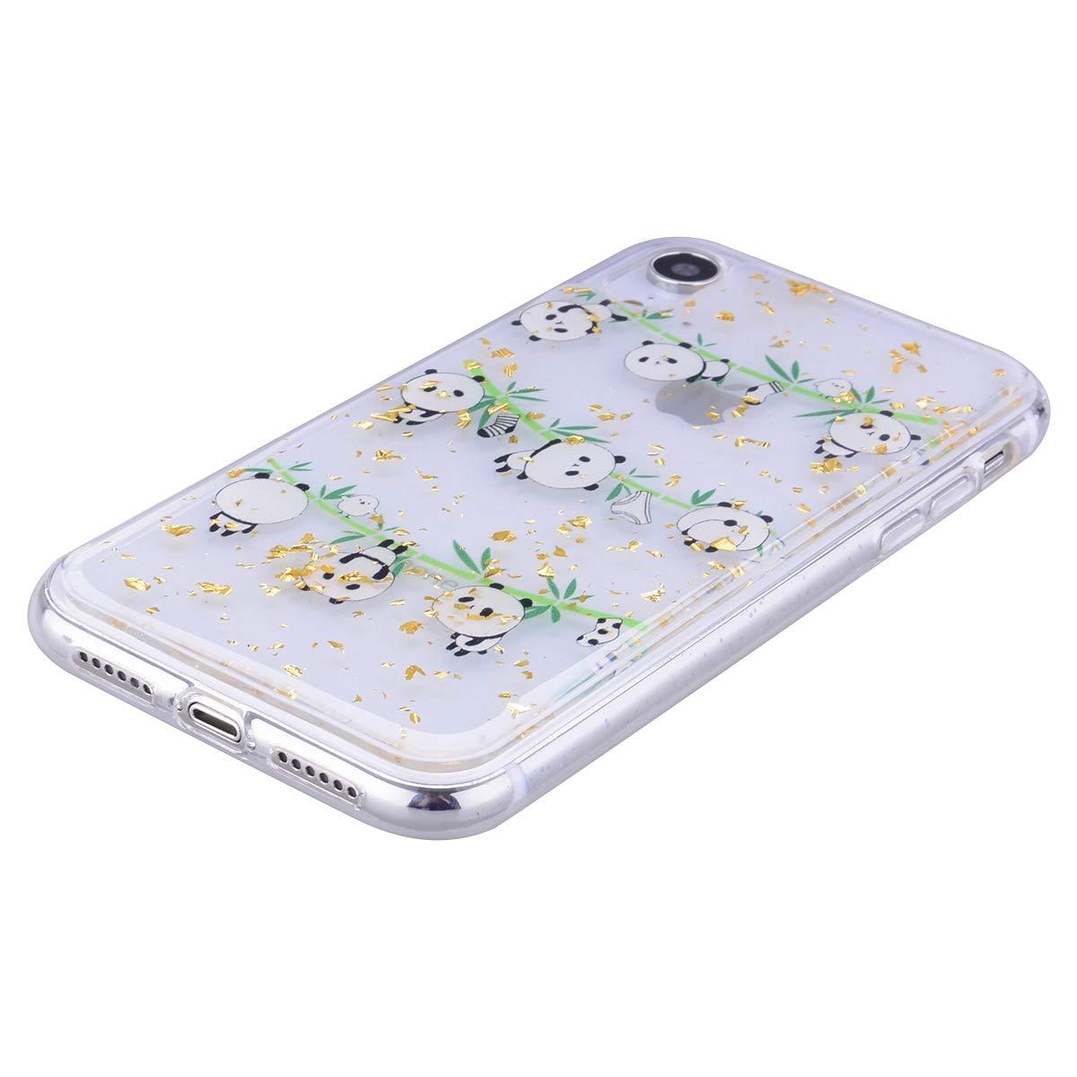 6,5 Coque pour iPhone XS Max Misstars Glitter Paillettes Bling Transparent Motif Sunflower Silicone TPU Bumper Ultra Mince et L/éger Housse de Protection pour Apple iPhone XS Max