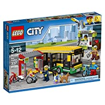 LEGO City Town Bus Station Building Kit, 337 Piece
