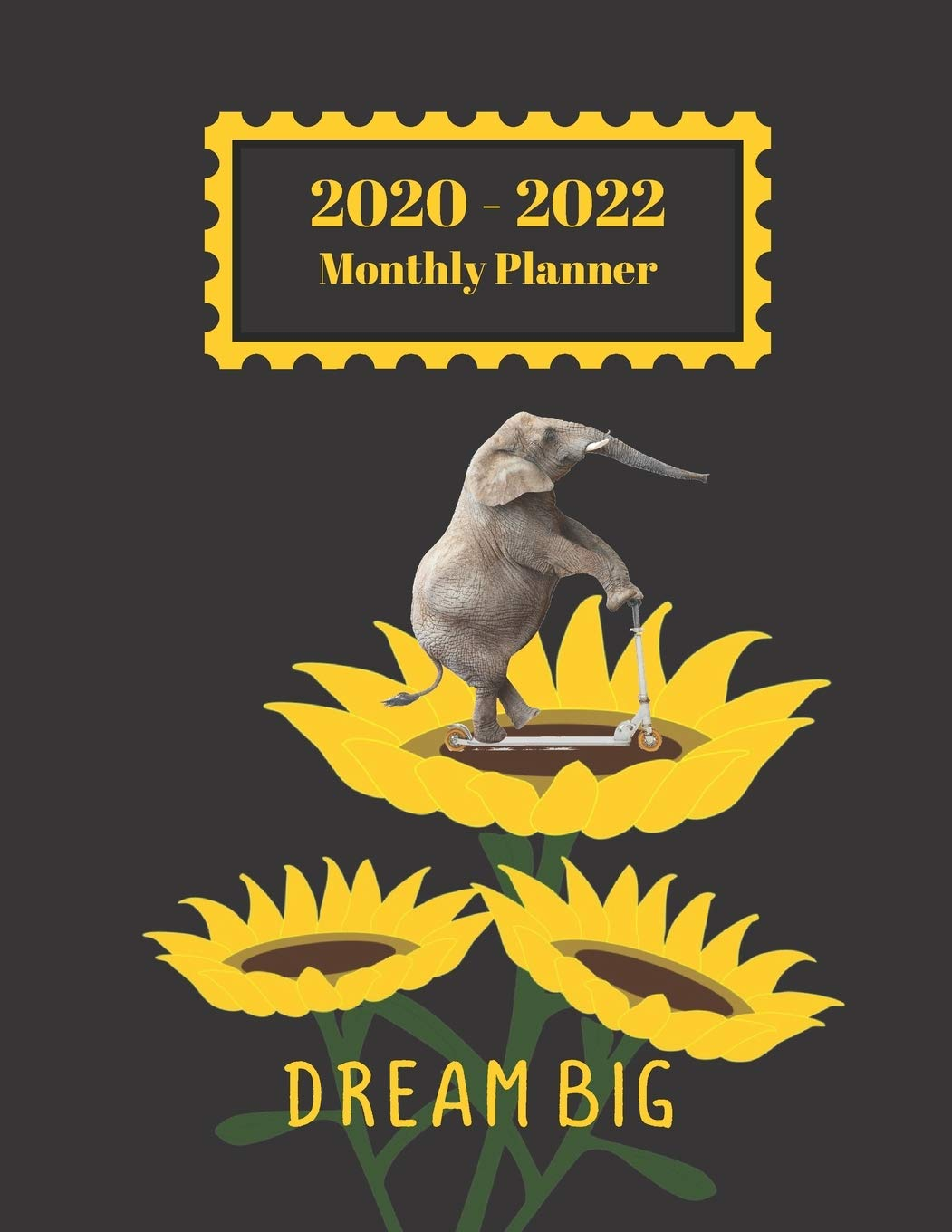 Appointment Calendar 2022.2020 2022 Monthly Planner Dream Big Elephant On Scooter Sunflower Funny Cover 2 Year Planner Appointment Calendar Organizer And Journal Notebook Amazon In Dumkist Books