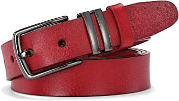 300667862ddc4 TUNGHO Women Simple Style Leather Belts for Jeans Pants Dresses Girls Ladies  Waist Belt with Pin