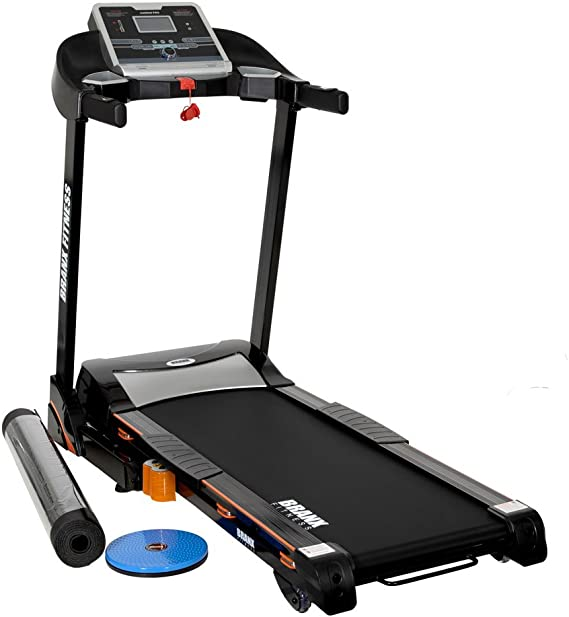 Branx Fitness Foldable 'Cardio Pro' Touchscreen Console Treadmill - 17km/h - 6hp - 0-15 Level Auto Incline - Body Fat Readout - Soft Drop System - Smart Deck Suspension Points
