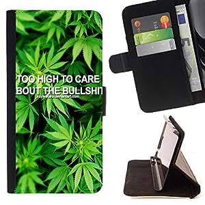 - 420 Weed weed Marijuana Kush Weed - - Caja de la carpeta del tir¨®n del cuero de la PU [con ranuras para tarjetas y cierre de solapa magn¨¦tica] P¨¢rese cubierta de la caja FOR Apple Iphone 5C Skull Market