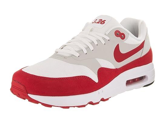 free shipping 46198 fea56 Amazon.com   NIKE Men s Air Max 1 Ultra 2.0 LE White University Red Running  Shoe 11 Men US   Road Running