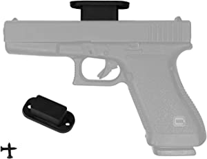 totalElement 30lb Rubber-Coated Magnetic Gun Mount for Home and Vehicle - Concealed Weapon Holder/Holster for Pistol, Handgun, Revolver, Rifle and Shotgun