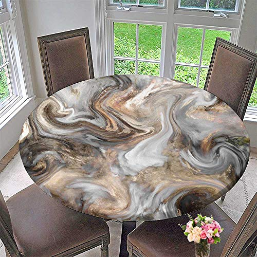PINAFORE HOME Circular Table Cover Marble Stone Background Texture, Mottled Grunge Background wbackground for Wedding/Banquet 50