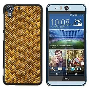 Stuss Case / Funda Carcasa protectora - Escalas de oro amarillo Serpiente Bling Chevron - HTC Desire Eye ( M910x )