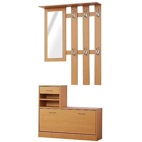 HOMCOM - Conjunto de Muebles de Entrada diseño Moderno ...