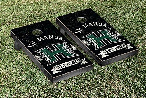 Hawaii Warriors Game (Hawaii Manoa Rainbow Warriors Cornhole Game Set Banner Vintage Version)