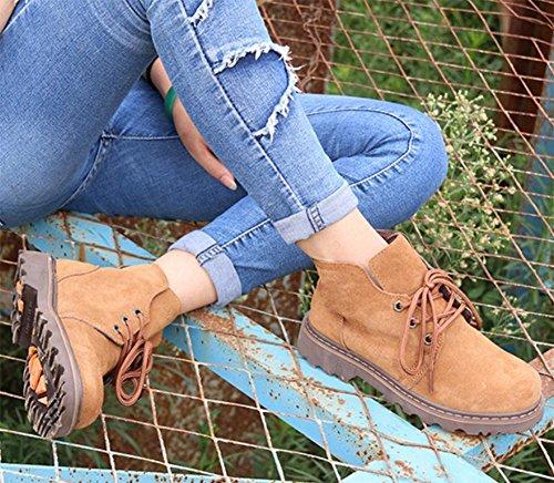 casuali stivali stivali paio femminili camel Martin stivali brown Ms Primavera di aumento R4qI1H